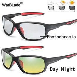 night driving sunglasses wholesale UK - WarBlade 2020 Men Polarized Photochromic Sun glasses Driving Night Vision Glasses Day Night Goggles Anti-glare Sunglasses oculos
