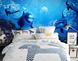 $enCountryForm.capitalKeyWord Australia - 3d wallpaper custom mural silk wall sticker 3d TV setting wall fashion Beautiful Dolphin Underwater World photo 3d wall murals wallpaper