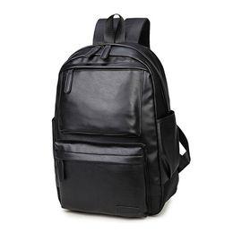 $enCountryForm.capitalKeyWord Australia - New Women Men Bag PU Leather Backpack Travel School Book Rucksack Bag Computer Bag High Quality Waterproof