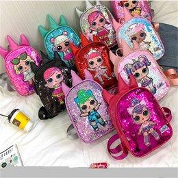 $enCountryForm.capitalKeyWord Australia - Women's Sequins Shoulder Bag Surprise Girls Backpacks Kids Schoolbag Bookpacks Sequined Handbags Cartoon Back Pack Totes Beach Bags B71802