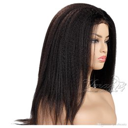 $enCountryForm.capitalKeyWord Australia - Brazilian Kinky Straight Cuticle Aligned Natural Black Bleach Knots Unprocessed Raw Full Lace Human Hair Wigs For Black Women