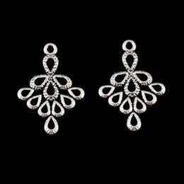 cheap accessories charms NZ - Cheap Charms 50 pcs Silver Color Irregular Pattern Charms Spray Shape Hollow Earrings Connector Jewelry Accessories For Women 24x17mm A95