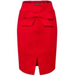 $enCountryForm.capitalKeyWord UK - Women's Fashion Bow Skirt Spring Summer Sexy Package Hip Skirt Slit High Waist Solid Color Skirts