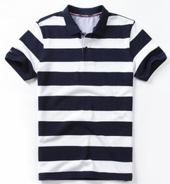 discount polos Australia - Discount Summer Men Striped Polos American Design Male Business Polo Shirts Spring Casual Shirt White Black Red M-XXXL