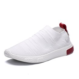 ad46ce94cea85 Thin Shoes For Summer White Shoes Men Sneakers Teen Without Lace Trend 2019  New Feel Socks tenis masculino chaussure