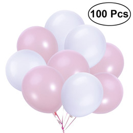 $enCountryForm.capitalKeyWord Australia - Event Party Ballons Accessories 100Pcs 12 Inch Latex Rubber Balloons for Birthday Wedding Party Decoration (1 2White and 1 2Pink)
