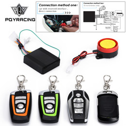 car security alarm systems NZ - Universal Car Two-Way Scooter Motorcycle Anti-theft Security Alarm System Engine Start Remote Control Key PQY-BQJ01 02