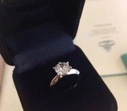 Avoir timbre et boîte 1-3 anneaux diamant carats anelli moissanite 925 femmes couple en argent sterling se marient les amateurs de bijoux de fiançailles ensembles de mariage en Solde