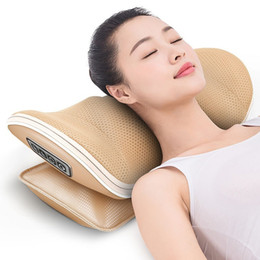 massager for back Australia - U Shape Massage Pillow Massager For Neck Waist Cervical Shiatsu Massage Cushion Heating Relax Back Massager Electric Reflexology T190712