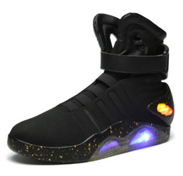 Mag future online shopping - mag Back to the Future Fashion Sneakers mens shoes LED lighting trainers New Arrival casual shoe