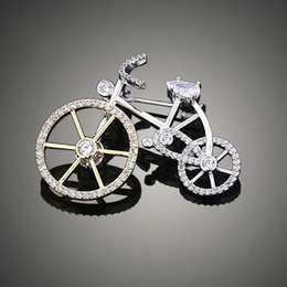 wedding bicycle Australia - Diamond Bicycle Brooch High-end Holiday Gift Men's and Women's Brooch Outdoor Party Nightclub Designer Brooch Free Shipping Hot