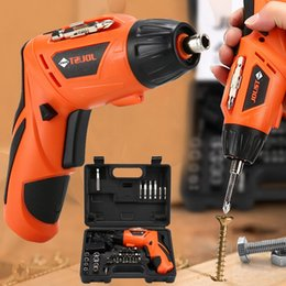 45 cable online shopping - 45 In Wireless Electric Drill Rechargeable Hand Drill Kit For Screw Installation With LED Light V USB Cable Charging
