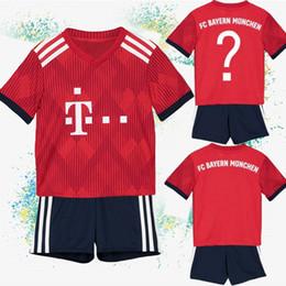 3b8e35d54 Thailand Clothing Australia - Bayern Munich Soccer Jerseys Thailand Bayern  Children clothes 10 ROBBEN 9 LEWANDOWSKI