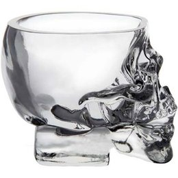 $enCountryForm.capitalKeyWord Australia - Transparent Crystal Skull Head Shot Glass Cup For Whiskey Wine Vodka Home Drinking Ware Man Gift Cup