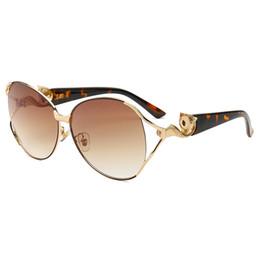 373271def2f35 Personality Fox Head Frame Ladies Fashion Sunglasses Designer Sunglasses  Brand Glasses Gold Frame Classic Ladies Personality Sunglasses