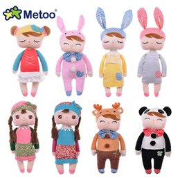 deer soft toy Australia - Cute Angela Rabbit Deer Ballet Girl Stuffed Plush Animals Kids Toys For Children Appease Baby Birthday Christmas Gift Metoo Doll MX190801