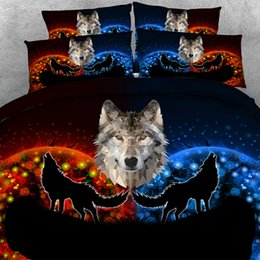 wolf bedding sets Canada - 3D Starlight Wolf print Duvet Cover with pillowcase Bedding 3 PCS Set, Microfiber Quilt Cover, Zipper Closure, NO Comforter