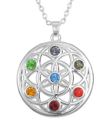 Special Pendants Australia - B8 Special Religious Necklace For Unisex Buddhism Style Jewelry Crystal Chakra OM Yoga pendant Necklace Potential Healing Energy Jewelry