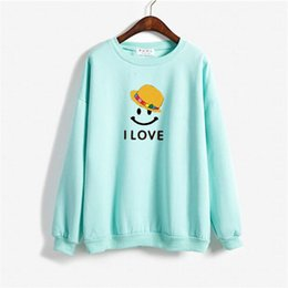 i love couples cartoons Australia - Women Sweatshirt Tops Autumn 2019 Winter Men Hoodie Kawaii Cartoon Letter I LOVE Print Couple Punk Hoodies Oversize Men Clothes
