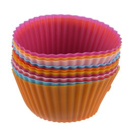 $enCountryForm.capitalKeyWord Australia - 5PCS Party Tray Cake Mold Decorating Tools Liner Baking Muffin Cup Case Random Color Silicone Muffin Cupcake Molds HK0403