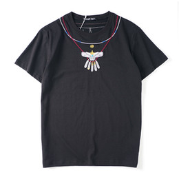 T Shirt Necklace UK - 2019 latest HOT best Quality Necklace printing European and American style Summer clothes Short sleeved Fashion Trend JOKER T-SHIRTS TOPS