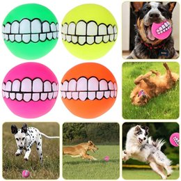 $enCountryForm.capitalKeyWord Australia - Funny Pets Dog Puppy Cat Ball Teeth Toy Pvc Chew Sound Dogs Playing Squeaker Sound Toys Pet Supplies