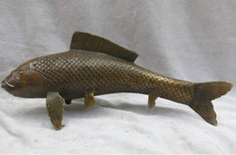 $enCountryForm.capitalKeyWord Australia - wholesale factory China brass copper Feng Shui carved lucky Carp fish Sculpture Statue