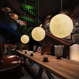 Acrylic Hanging Pendant Light Australia - Post Modern Round Moon Led Pendant Light Nordic Acrylic Bar Pendant Lighting For Bedroom Hanging Fixtures Lustre Lamparas