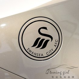 Discount car tuning stickers - Car Stickers Swansea City Football Club Soccer Creative Decals Fuel Tank Cap Vinyls Auto Tuning Styling 13x13cm 20x20cm