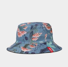 fa0cbe835e6 NUZADA Brand Printing Men Women Fisherman Hats Couple Bucket Hat Summer  Autumn Spring Shade Cotton Caps Double Sided Can Be Worn 888