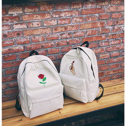 1cc53932f79a Men Women Oxford Cloth Backpack Cute Rose Embroidery Rucksack For Teenagers  Travel Bags School Bags Women Bag
