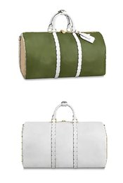 $enCountryForm.capitalKeyWord UK - New Fashion Duffel Bag Keepall 50 Famous Designer Luggage Genuine Leather Letter Check Luxury Duffel Bags