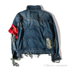 $enCountryForm.capitalKeyWord UK - Mens Winter Clothing Kanye West Jeans Jacket Ripped Holes Vintage Denim Coat Letters Print High Street Wear