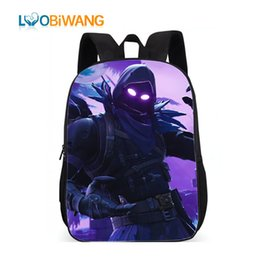 lovely games UK - Luobiwang Famous Game Printed Children Schoolbag Battle Royale Backpack Lovely Cartoon Character Backpack For Boys And Girls Y19062401