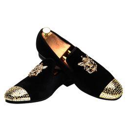 28372f58204 Men Loafers Slip on Mens Velvet Shoes Designer Rivets Metal Buckle Casual  British Dress Shoes Men s Flats Wedding Party Shoes Q-509
