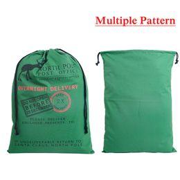 Iphone santa online shopping - Christmas Gift Bags Large Organic Heavy Canvas Bag Santa Sack Drawstring Bag With Reindeers Santa Claus Sack Bags for kids