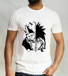 Naruto aNime t shirts online shopping - Naruto Vs Sasuke T Shirt Sharingan Uchiha Uzumaki Clan Anime Comic Con Mens Top Summer O Neck Tops Tee Shirt