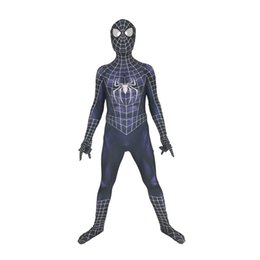 $enCountryForm.capitalKeyWord Australia - Adult Men Kids Symbiot Raimi Spider-Man Cosplay Costume Lycar High Quality Spiderman Superhero Zentai Halloween Party Bodysuit Jumpsuit