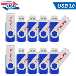 stick drives Canada - 10X Blue 16GB USB 3.0 Flash Drives Metal Rotating Flash Pen Drive Thumb Memory Stick Enough Storage for Computer Macbook Tablet Laptop