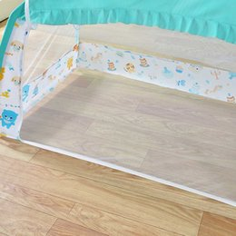 infant cradle beds UK - Baby Cradle Bed Mesh Mosquito Nets Summer Baby Arched Mosquitos Nets Portable Crib Netting For Infant Baby Cradle J75