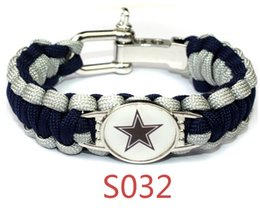 paracord sports 2019 - USA Sport Teams Charm For Paracord Survival Adjustable Bracelet For Men Women Jewelry discount paracord sports