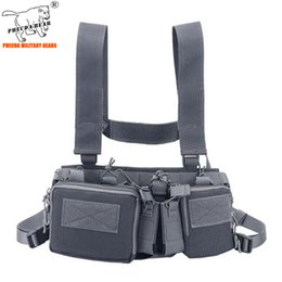 ammo pouches 2020 - 600D summer light-weight tactical chest rig with ammo pouch D3CR paintball vest multi-function vest cycling chest bag ch