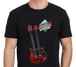 black s guitar Australia - Brian May Guyton Guitar Double Neck Men's T-Shirt Black Size : XS-S-M-L-XL-2XL