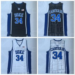 $enCountryForm.capitalKeyWord Australia - NCAA Duke 34 Wendell carter White, Black And Blue Embroidered Basketball Jerseys