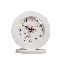 $enCountryForm.capitalKeyWord UK - 6 Inch White Classic Wooden Silent Table Clock Retro Creative Art Desk Clock Home Decro Y19062103