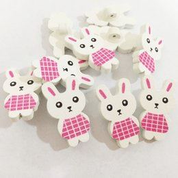 2019 Fashion 300pcs Mixed Wood Cartoon Buttons Rabbit Head Shape 2-hole Sewing Wooden Button For Scrapbooking Card Making Diy Jewelry Buttons