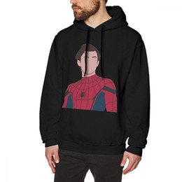 $enCountryForm.capitalKeyWord NZ - Tom Holland Hoodie Tom Holland Peter Parker Hoodies Cotton X Pullover Hoodie Blue Fashion Outdoor Men Autumn Long Length Hoodies