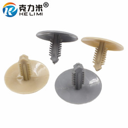 Discount plastic roofing wholesales - KE LI MI Auto roof liner trunk lining gray fastener retainer rivet trim Gray Brown Car ceiling cover snaps plastic clips
