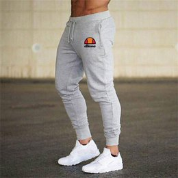 Wholesale pink purple tracksuit resale online – Mens Joggers Casual Pants Fitness Sportswear Tracksuit Bottoms Skinny Sweatpants Trousers Black Gym Jogger Bodybuilding Track Pants