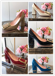 $enCountryForm.capitalKeyWord NZ - and autumn fashion round-head leather high-heeled metal plate decoration professional shoes work heel height 8.5cm